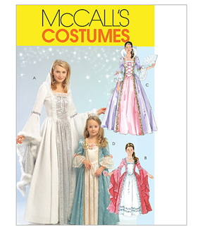 McCall\u0027s Pattern M5731-Misses\u0027/Children\u0027s/Girls\u0027 Princess Costumes