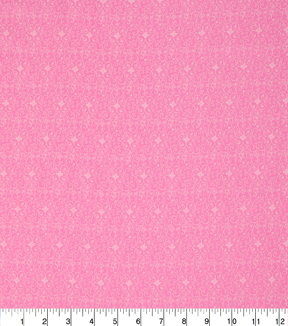 Keepsake Calico Cotton Fabric -Rose In Bloom Scroll On Pink