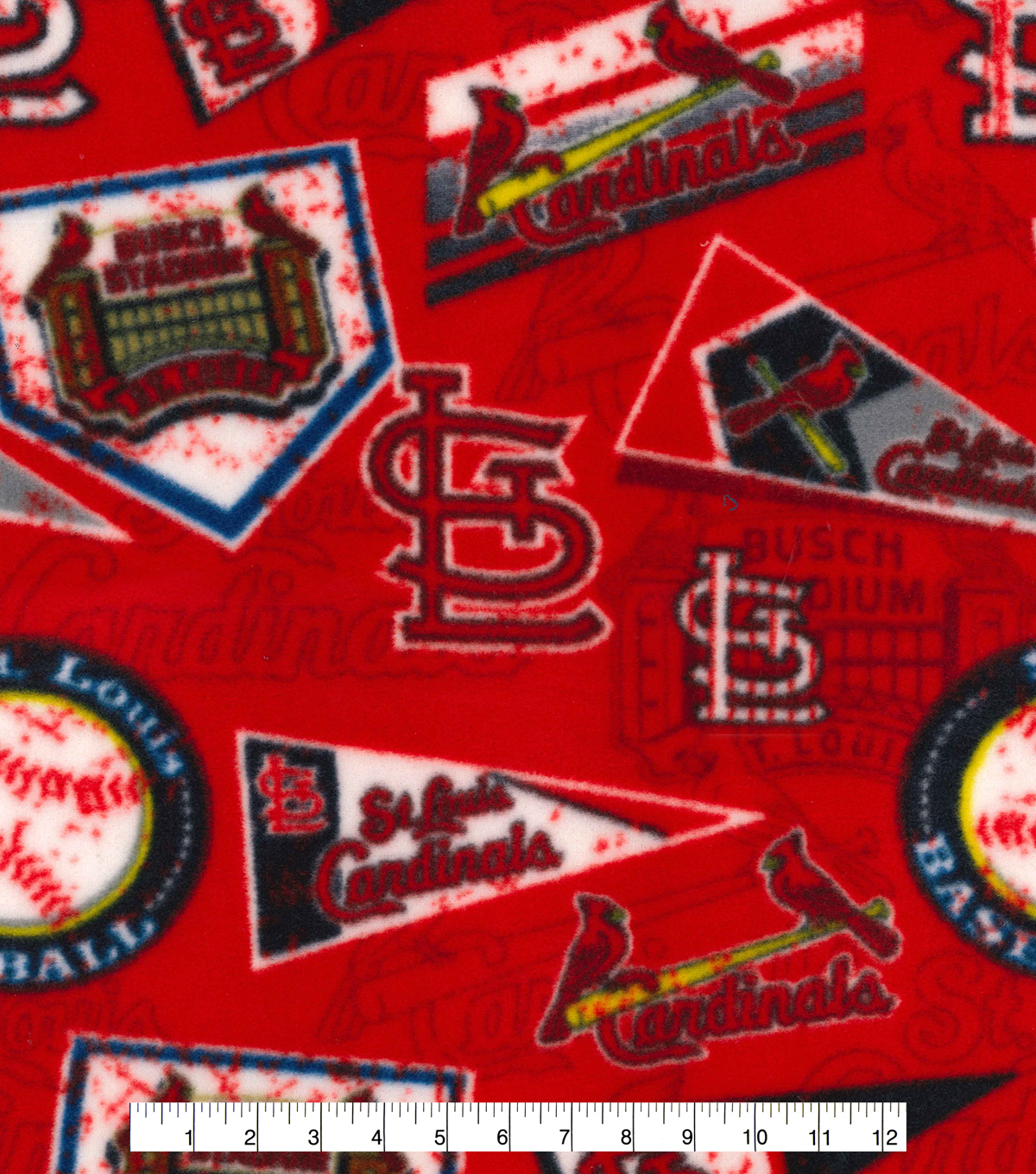 St. Louis Cardinals Fleece Fabric-Vintage