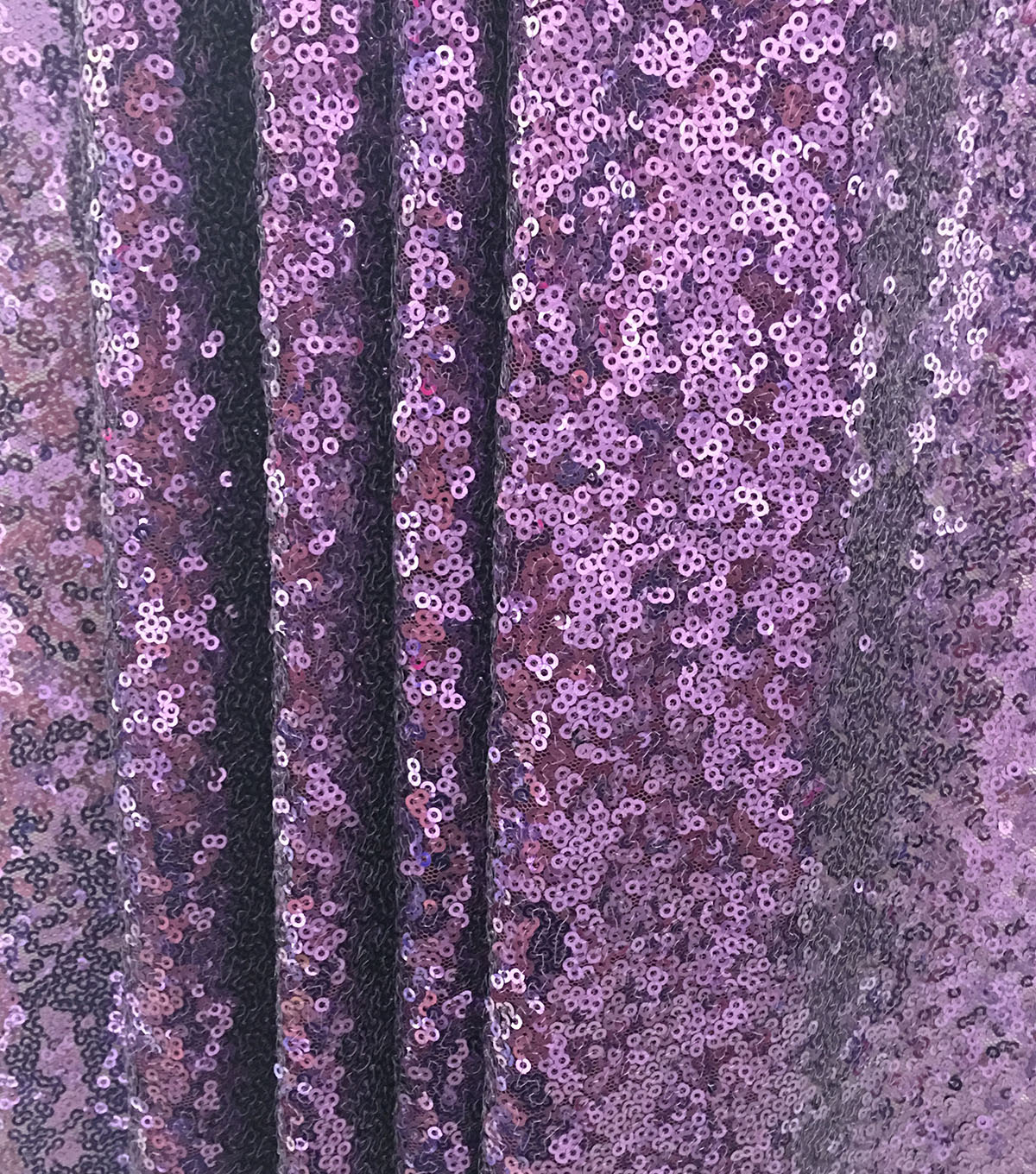 All Over Sequin Fabric-Blackberry Wine