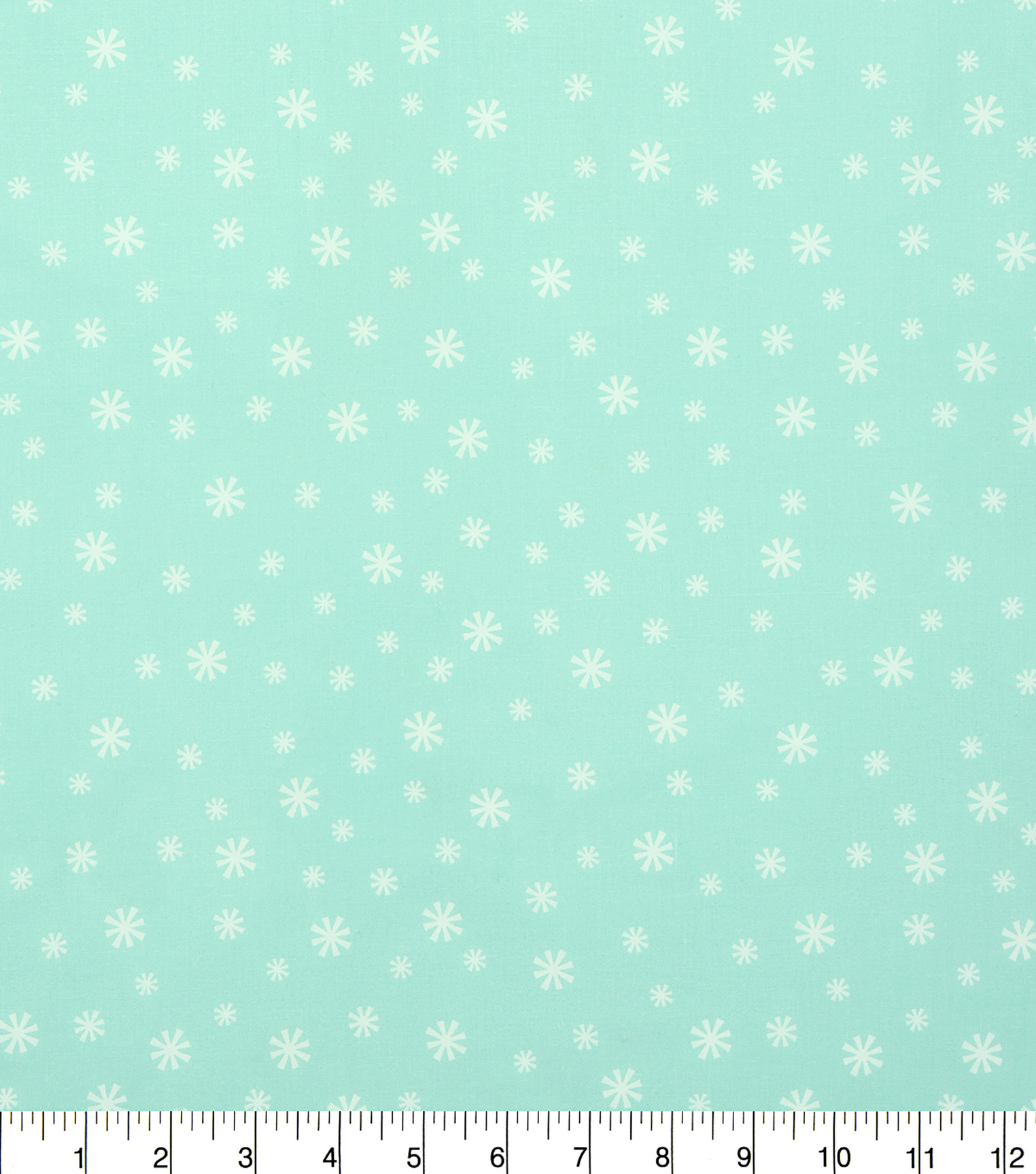 Holiday Cotton Fabric -Flakes on Turquiose