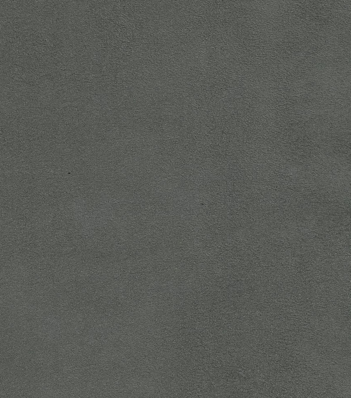 Dark Grey Living Room: Home Decor Solid Fabric-Signature Series Suede Dark Gray