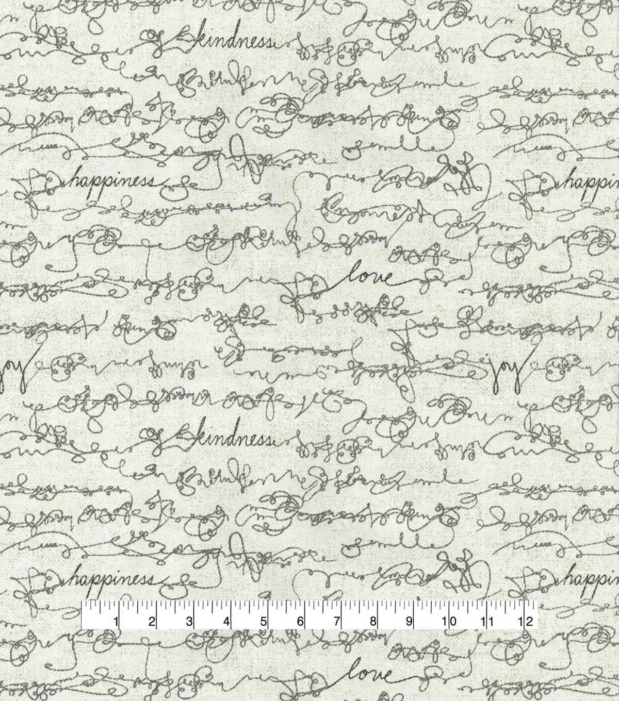 Ed Ellen Degeneres Upholstery Fabric 54 U0027 Shale Love Script