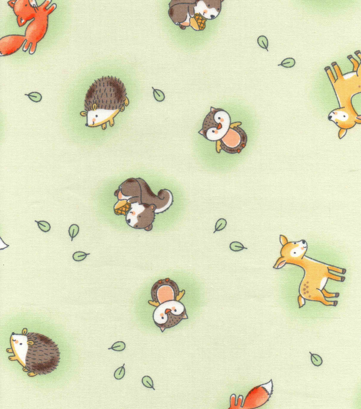 Nursery Cotton Fabric -Woodland Tossed