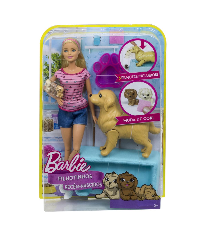 Barbie Newborn Pups Doll and Pets