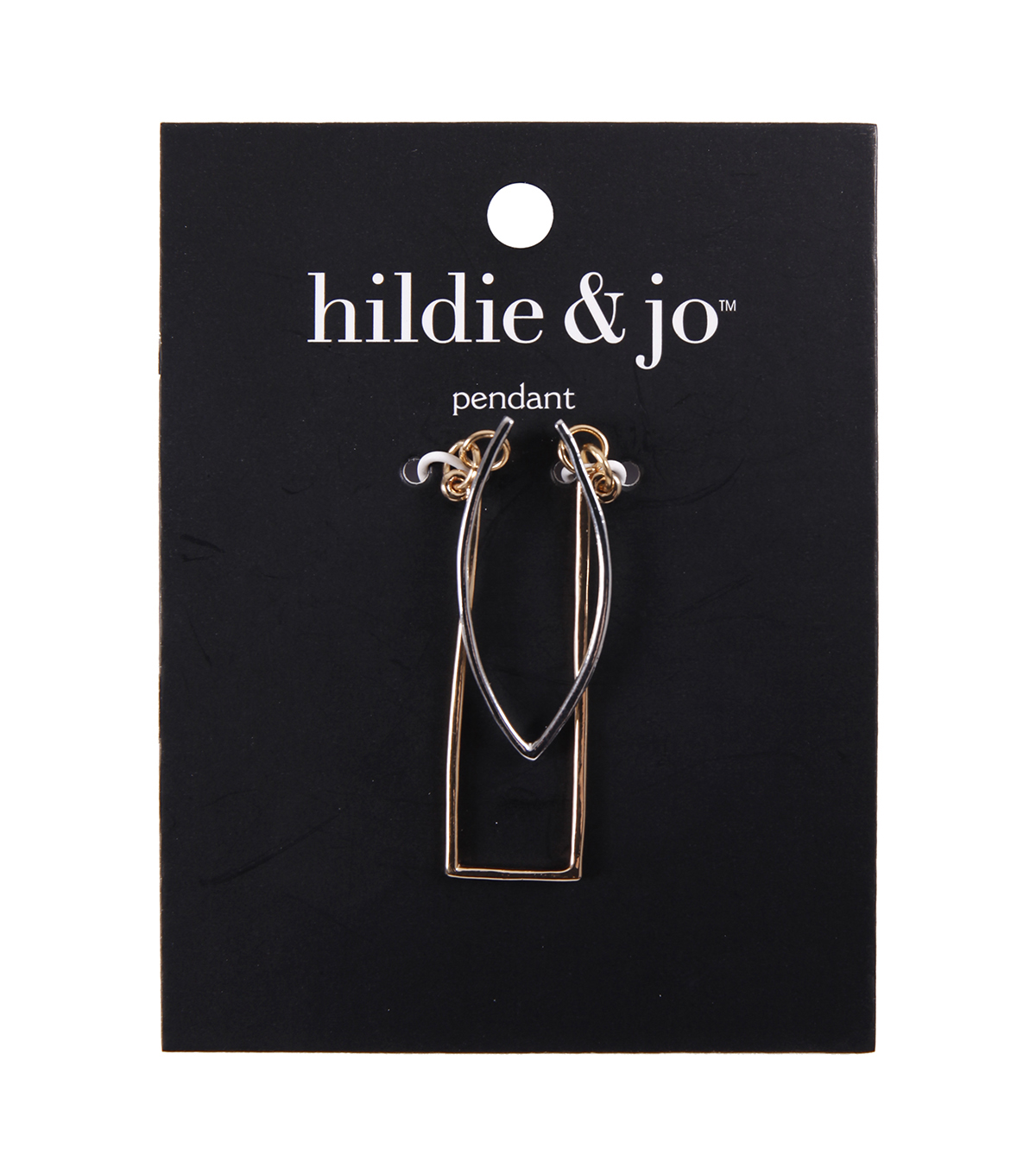 hildie & jo Minimalist Double Layered Pendant-Gold & Silver