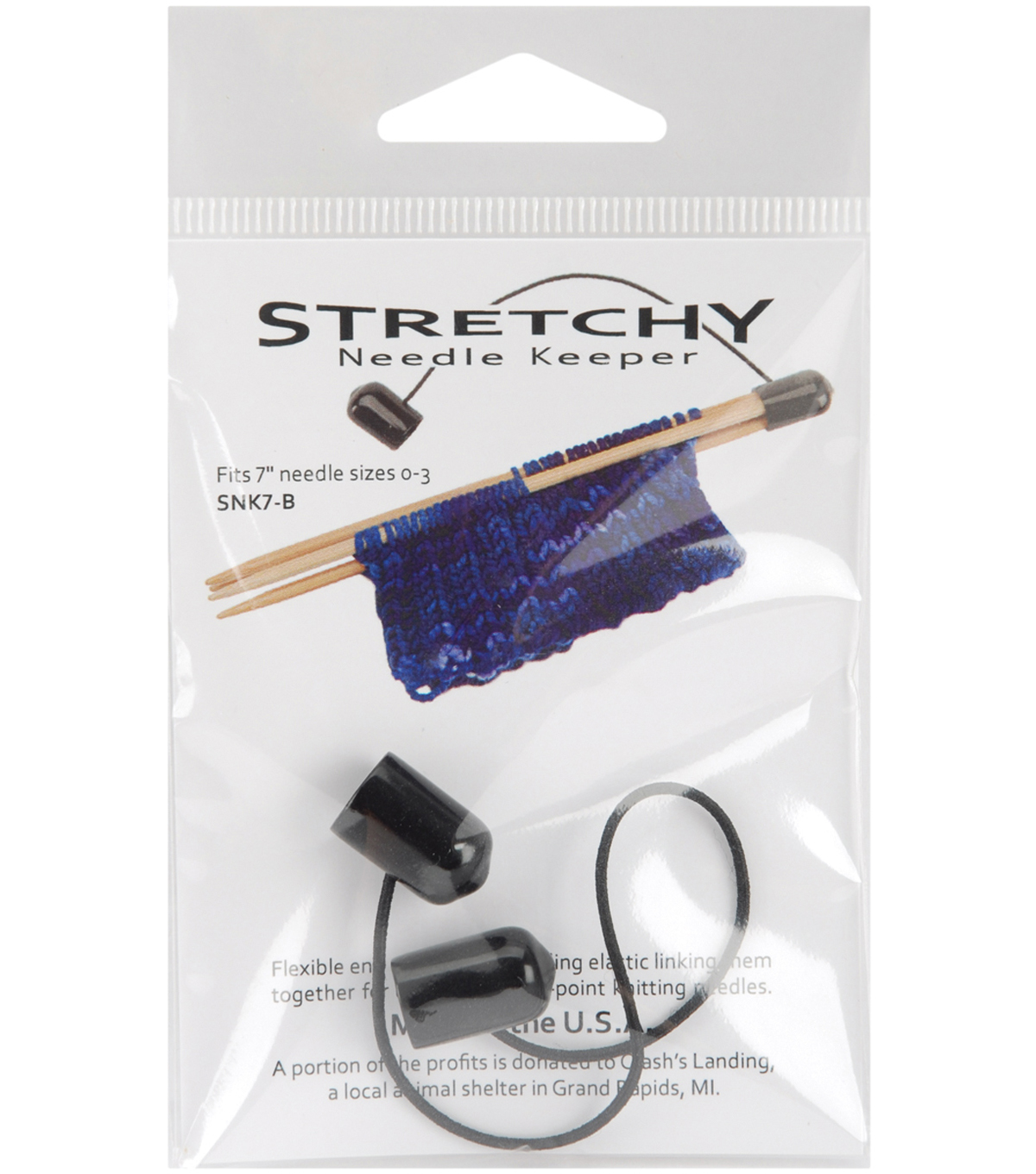 Knitting Solutions Stretchy Needle Keeper For 7\u0027\u0027 Double Point Needles, Black