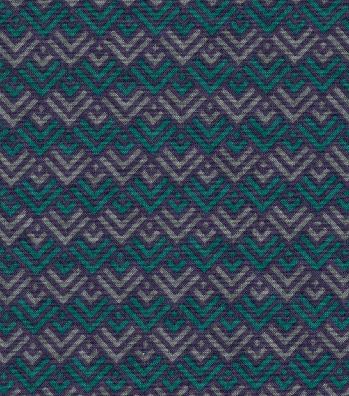 Quilter\u0027s Showcase Cotton Fabric 44\u0022-Deep Lake Geometric Blender