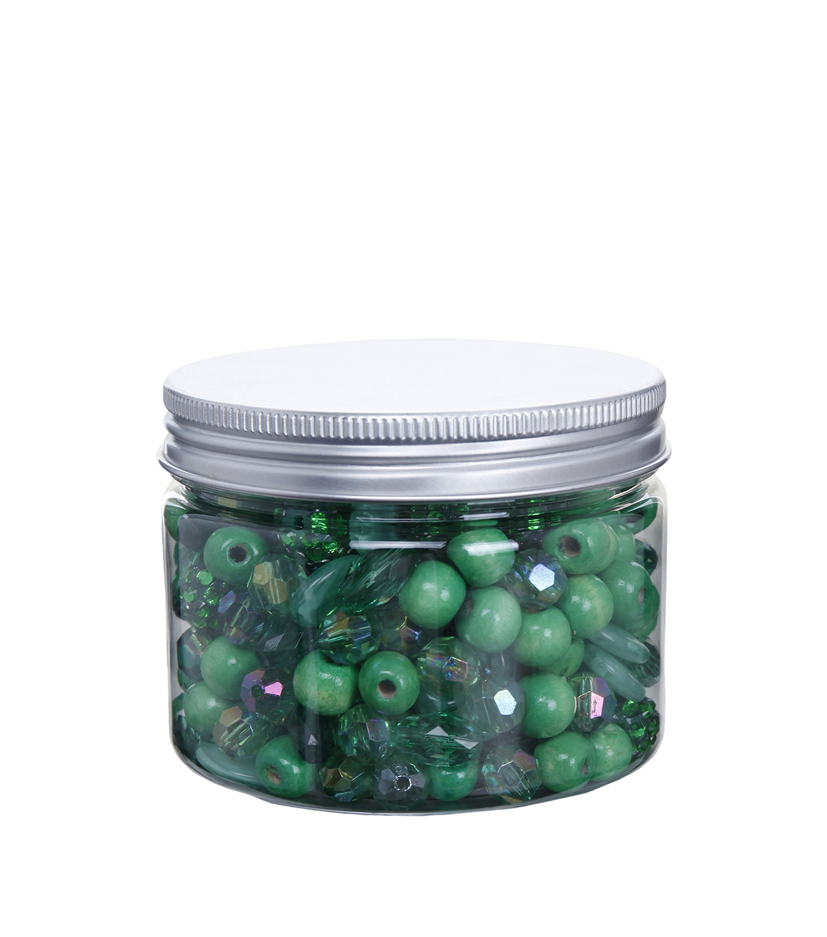 hildie & jo 4.58 oz. Assorted Fashion Beads in Plastic Jar-Green