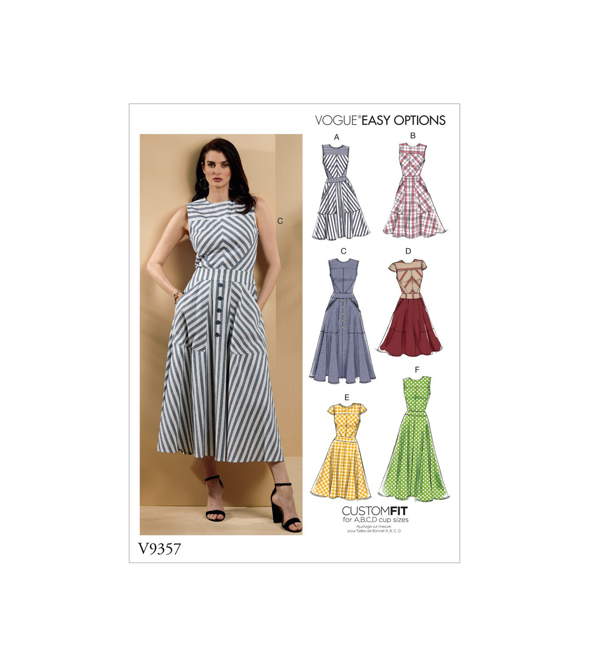 Vogue Pattern V9357 Misses\u0027 Dress-Size 14-16-18-20-22
