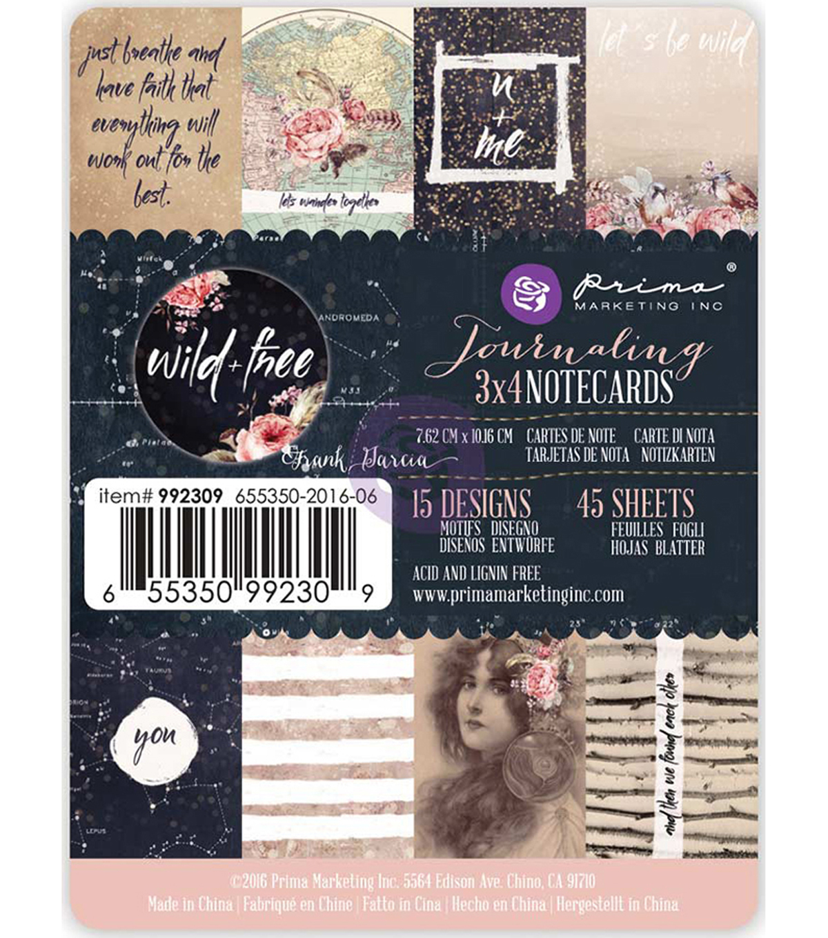 Wild & Free Journaling 3\u0022X4\u0022 Double-Sided Notecards 45pk