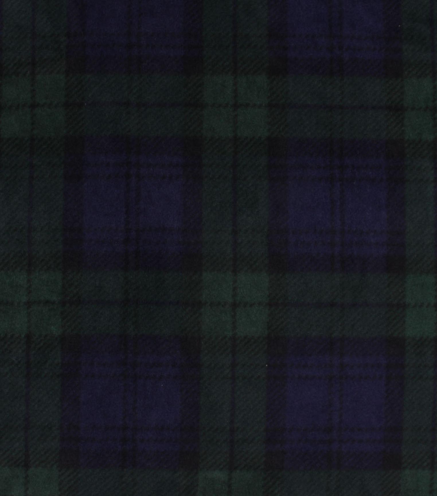 Anti Pill Plush Fleece Fabric Aspen Blackwatch Plaid