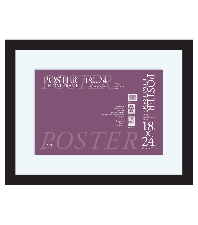 Float poster frame 18x24 black joann poster float frame jeuxipadfo Gallery
