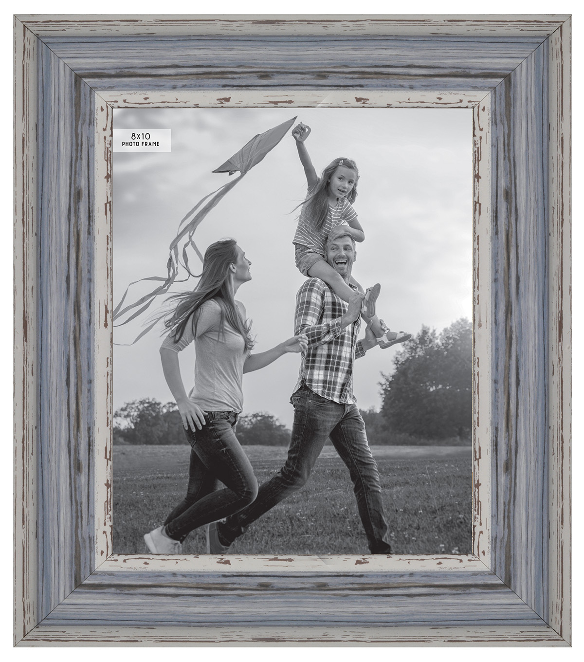 Photo Frame 8\u0027\u0027x10\u0027\u0027-Distressed Light Blue