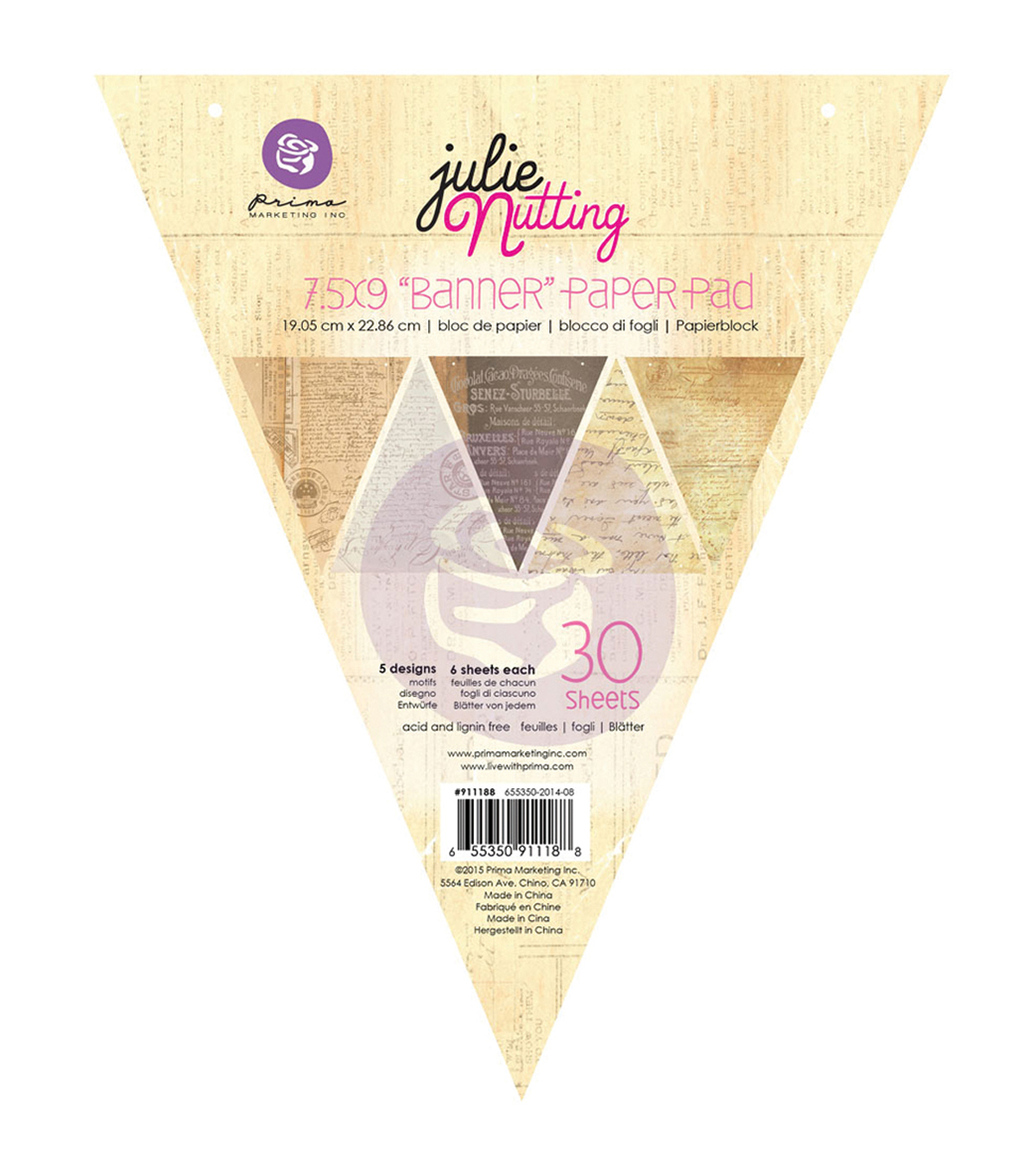Prima Marketing Julie Nutting Mixed Media Banner Pad