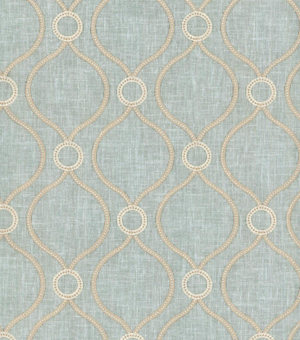 P/K Lifestyles Solid 8x8 Fabric Swatch-Curveball Emb/Seaglass
