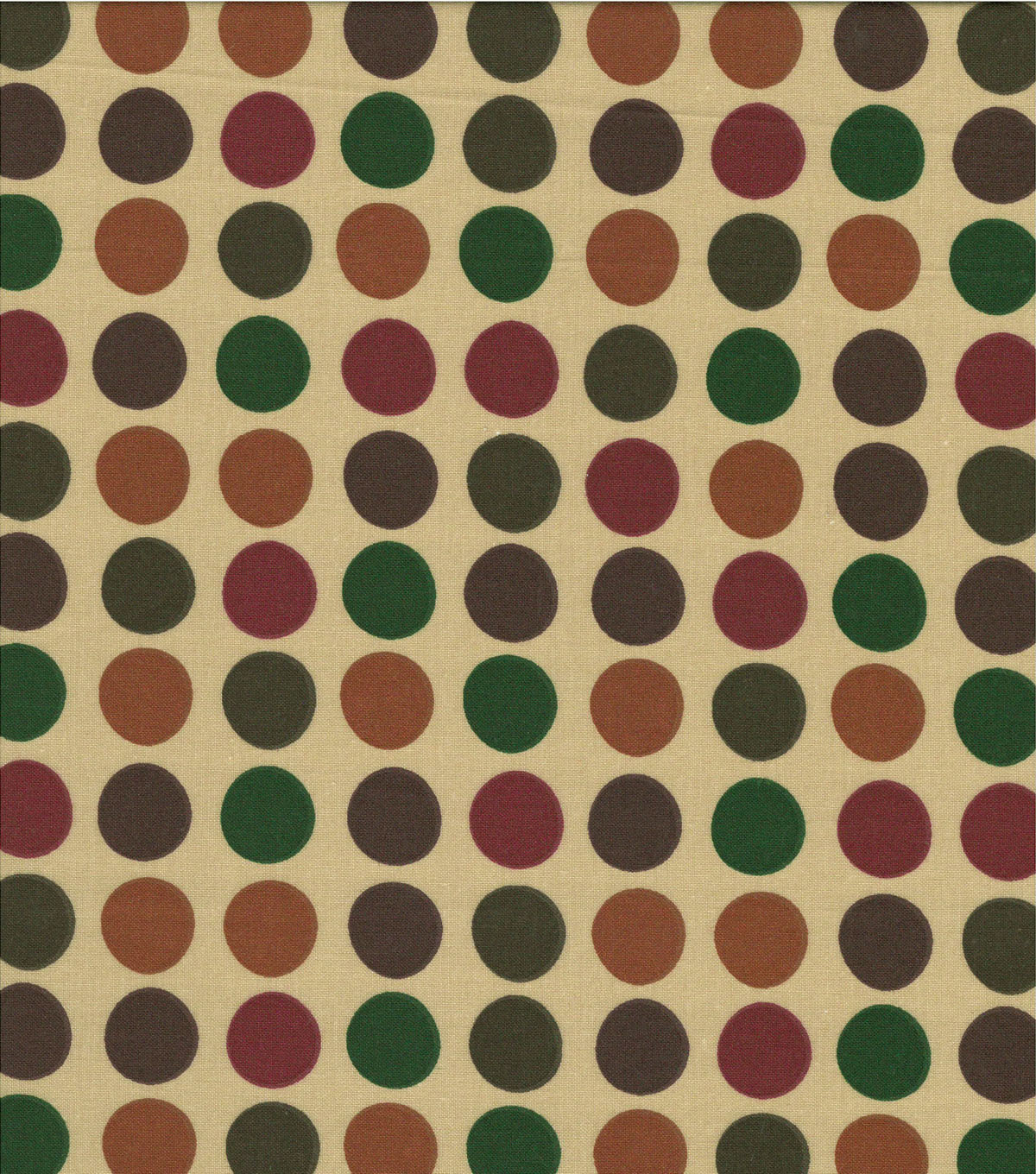 Quilter\u0027s Showcase Cotton Fabric-Multi Colored Dots on Tan