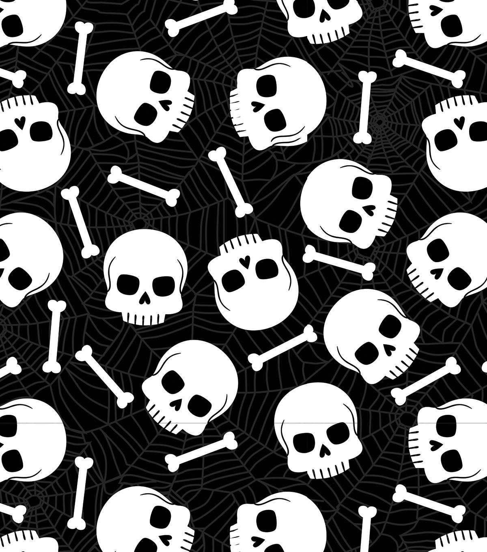 Makers Halloween 60 Round Tablecloth Skulls Bones Joann