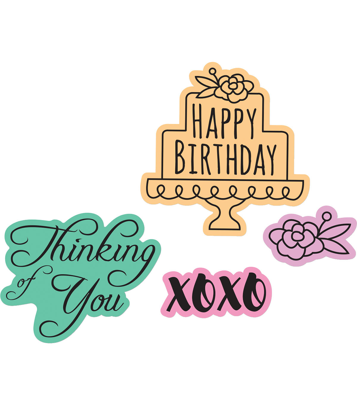 Sizzix Framelits Lindsey Serata Die & Stamp Set-Simple Sentiments