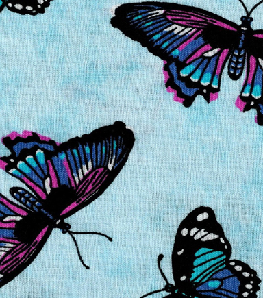 Novelty Cotton Fabric-Butterflies In The Sky