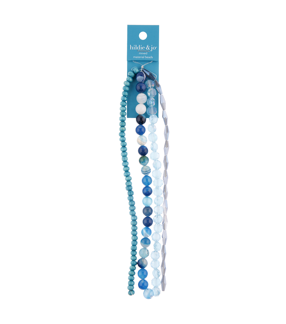 hildie & jo 26\u0022 Multi Strand Beads-Blue