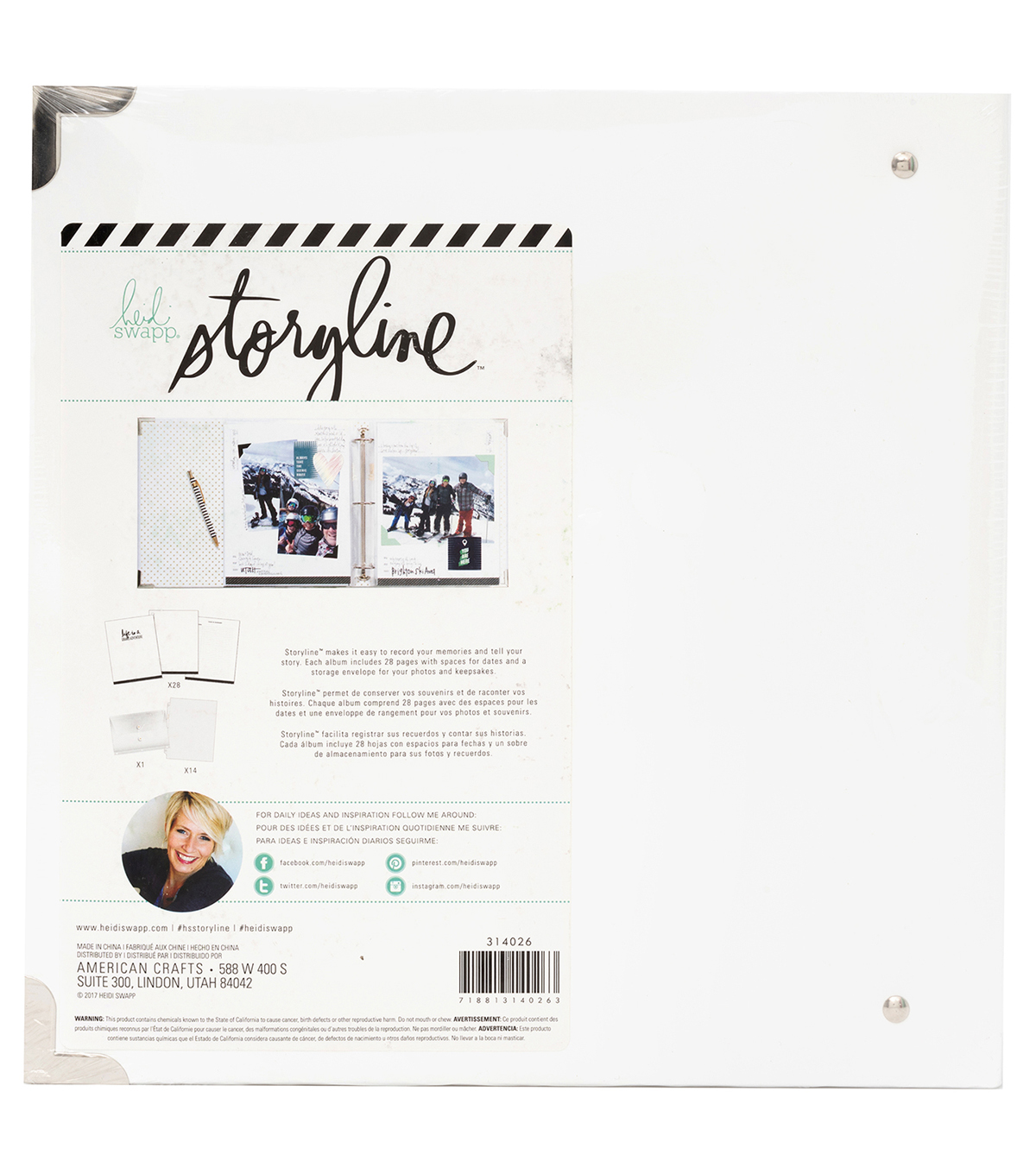 Heidi Swapp Storyline Album Kit-Life is Good