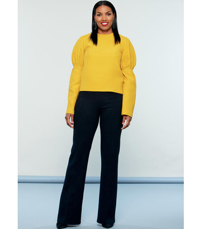 McCall\u0027s Pattern M7580 Misses\u0027 Top & Straight-Leg Pants-Size 14-22