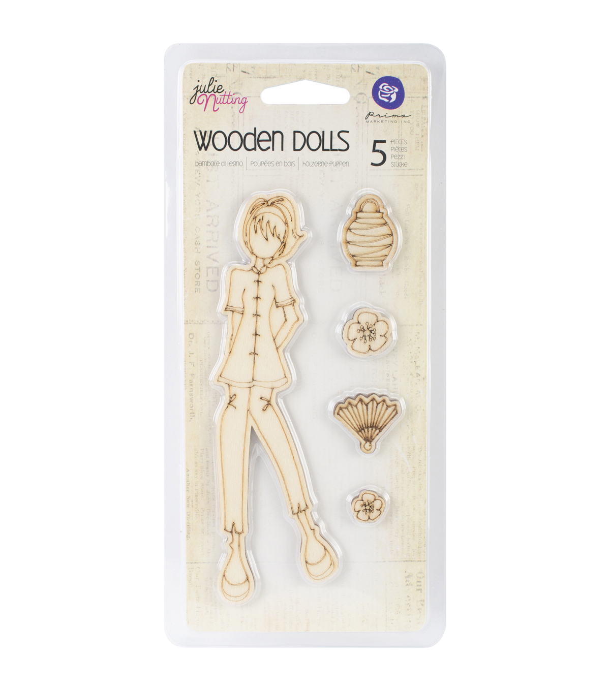 Prima Marketing Mixed Media Wood Embellishments  - Chloe