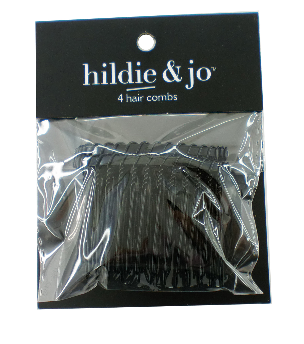hildie & jo 4 pk Wire Hair Combs-Black