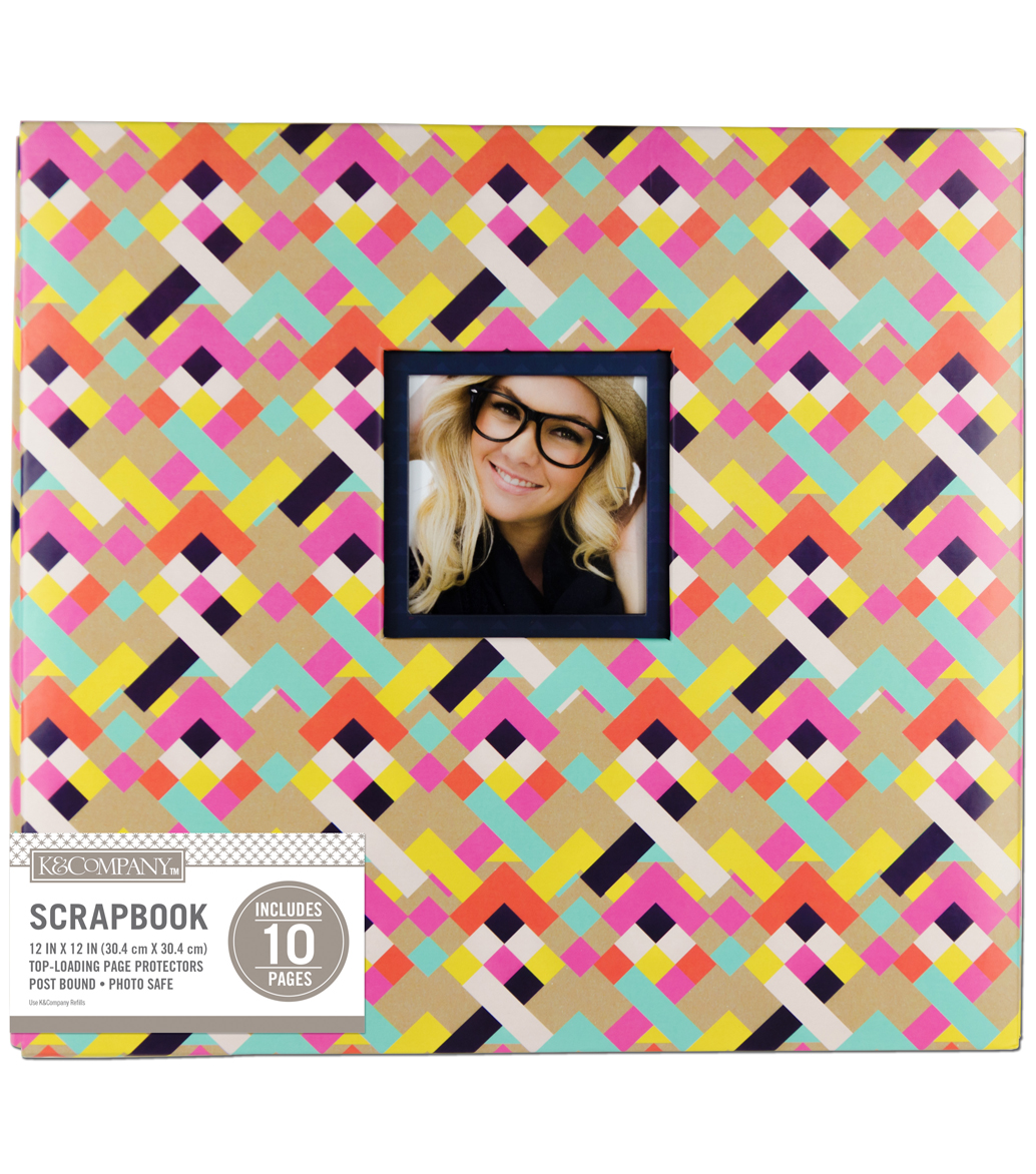 K&Company 12\u0027\u0027x12\u0027\u0027 Scrapbook with Window-Bright Geometric