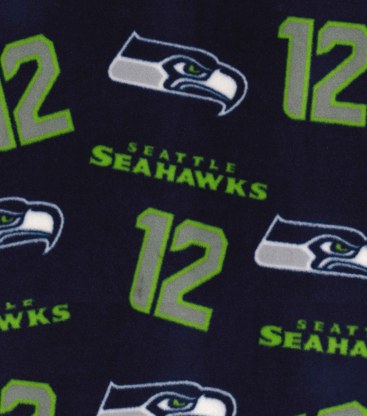 Seattle Seahawks Fleece Fabric -Blue