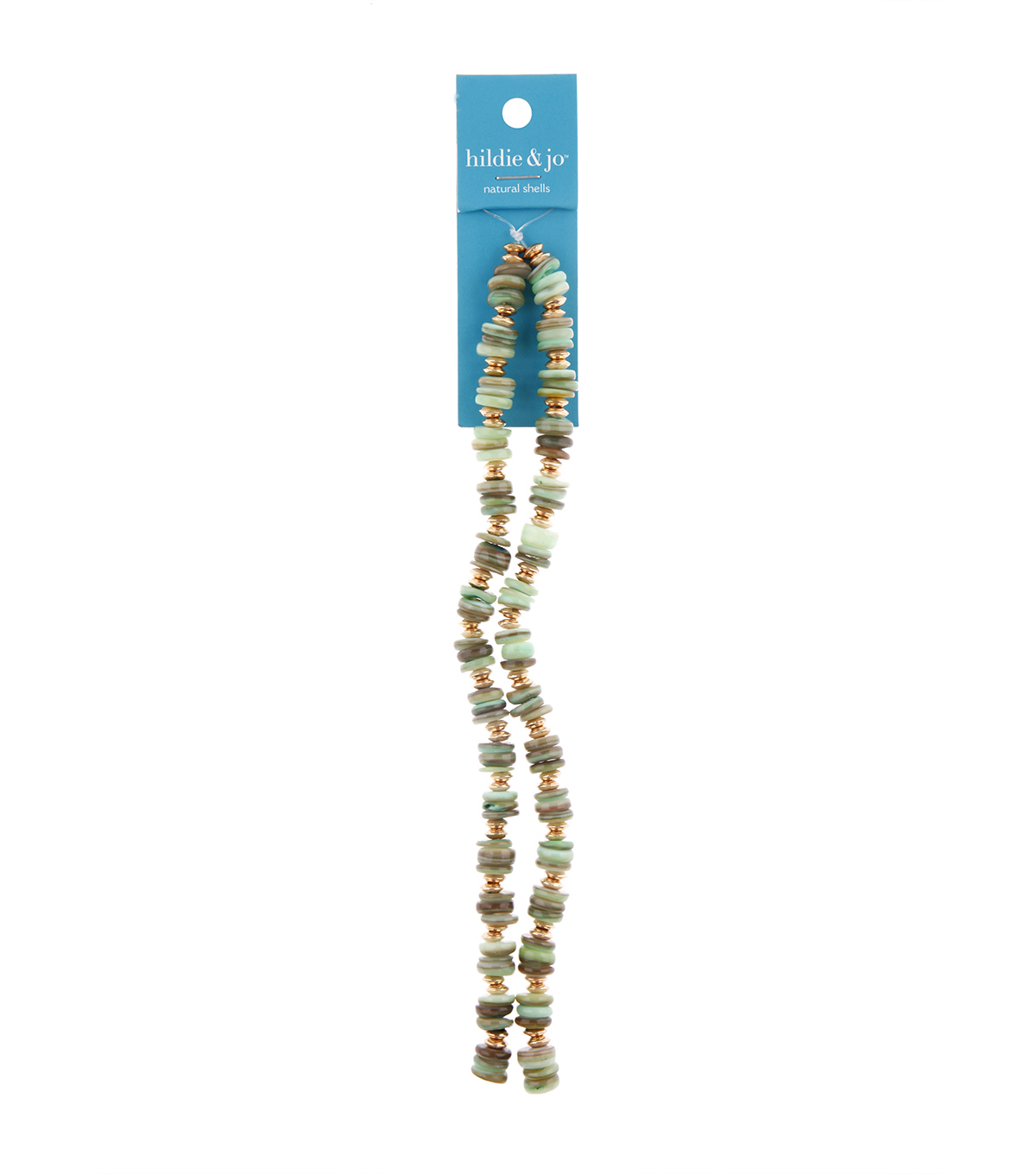 hildie & jo 14\u0022 Shell Strung Beads-Green