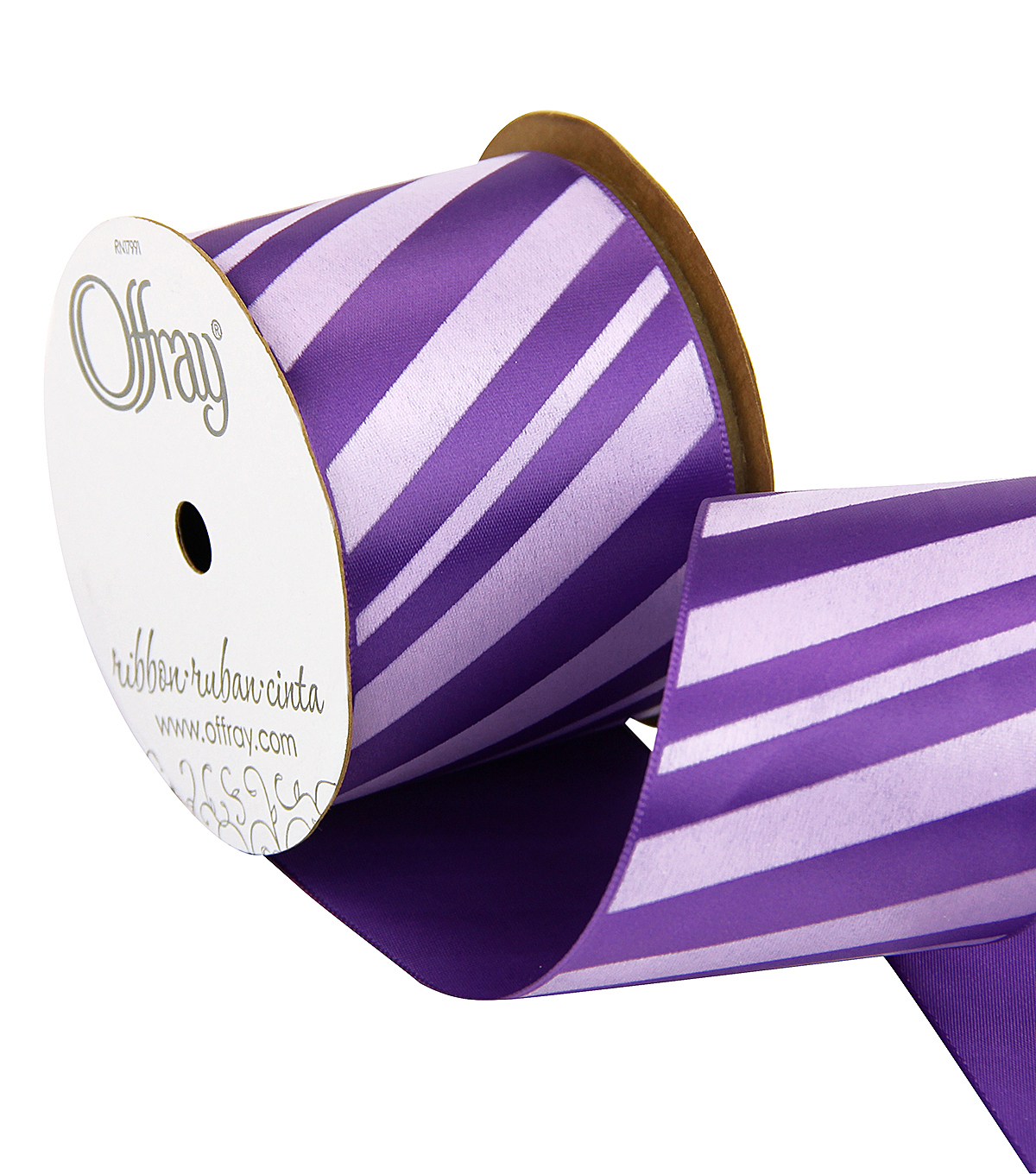 2.25\u0022 Purple Haze Diag Stripe Ribbon
