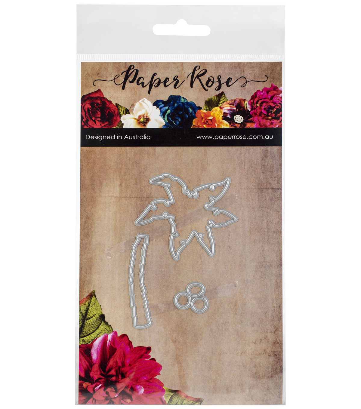 Paper Rose 3 pk Metal Dies-Small Palm Tree