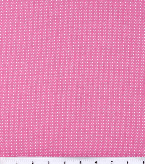 Keepsake Calico Cotton Fabric 44\u0022-Small Dots On Rose Pink