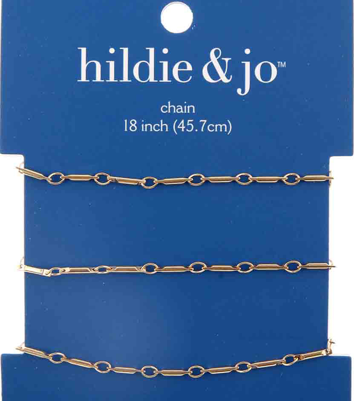 hildie & jo 18\u0022 Copper & Iron Small Bar Link Chain-Gold