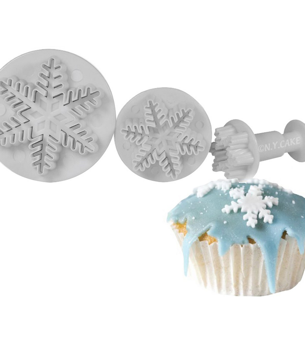 NY Cake 3 pk Plunger Cutters-Snowflake