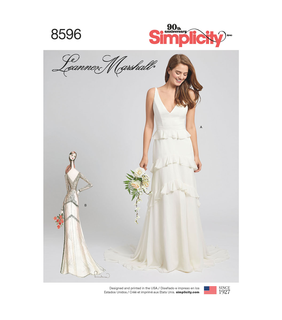 Simplicity Pattern 8596 Misses\u0027 Project Runway Gown-Size D5 (4-12)