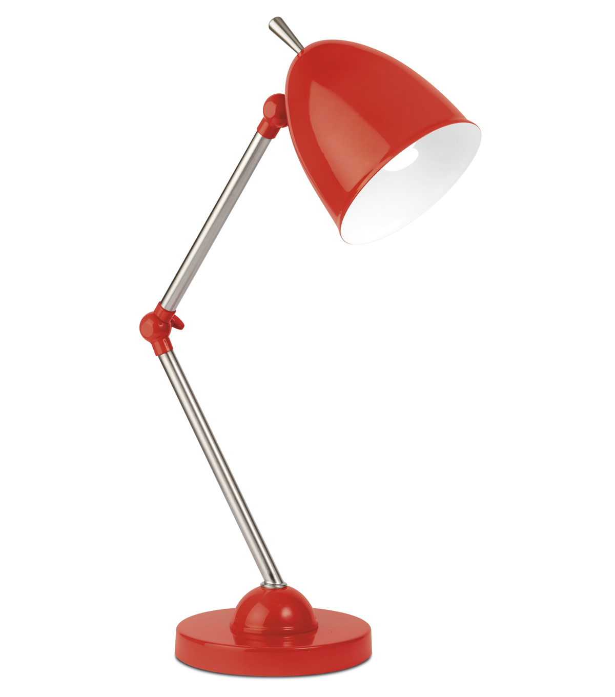 OttLite 13W Articulating Desk Lamp-Red