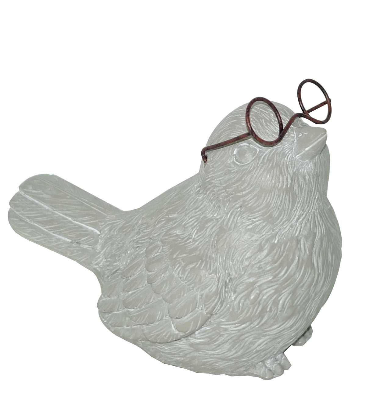 In the Garden Resin Bird with Glasses