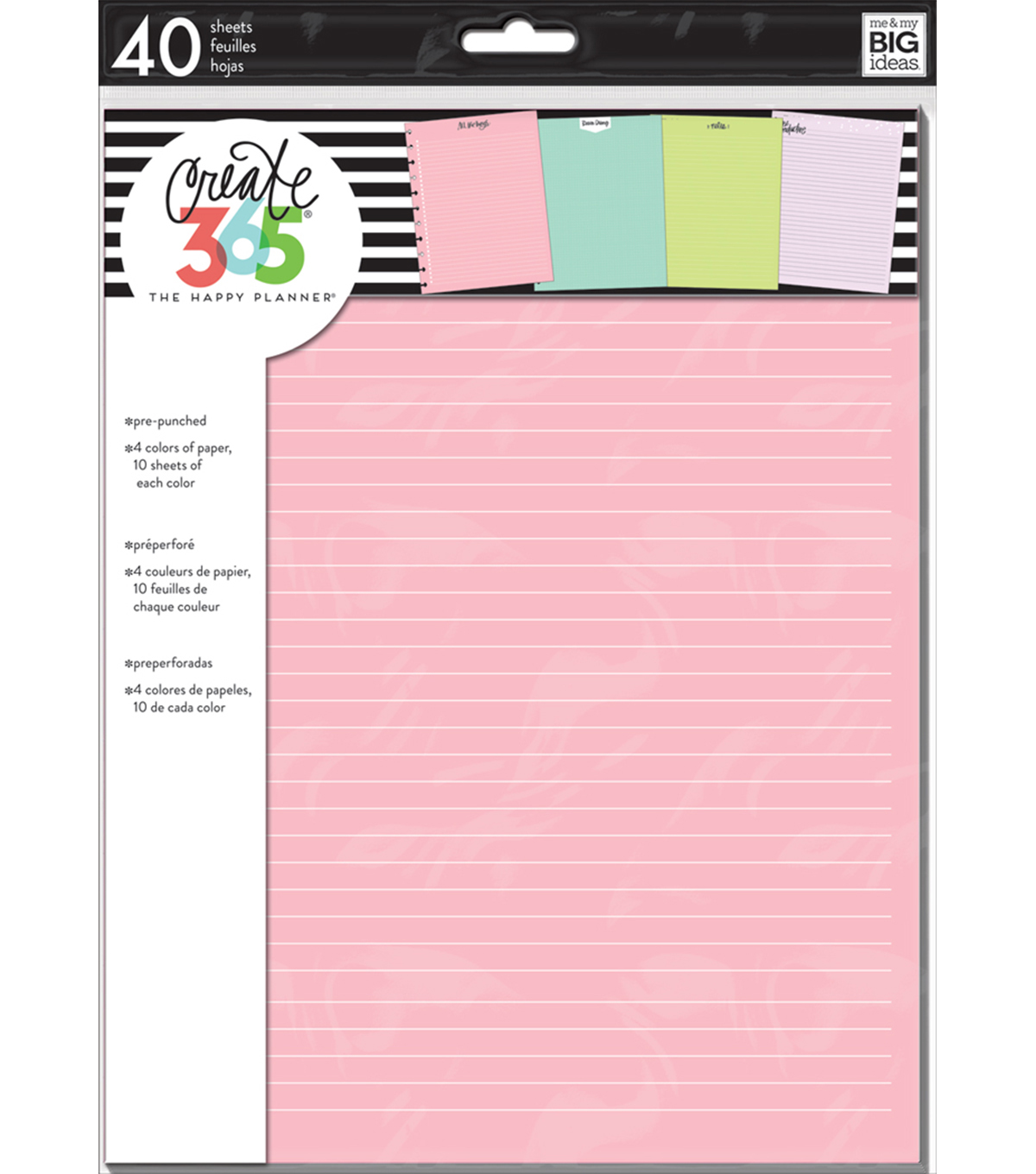 The Happy Planner Big Note Papers-Colored