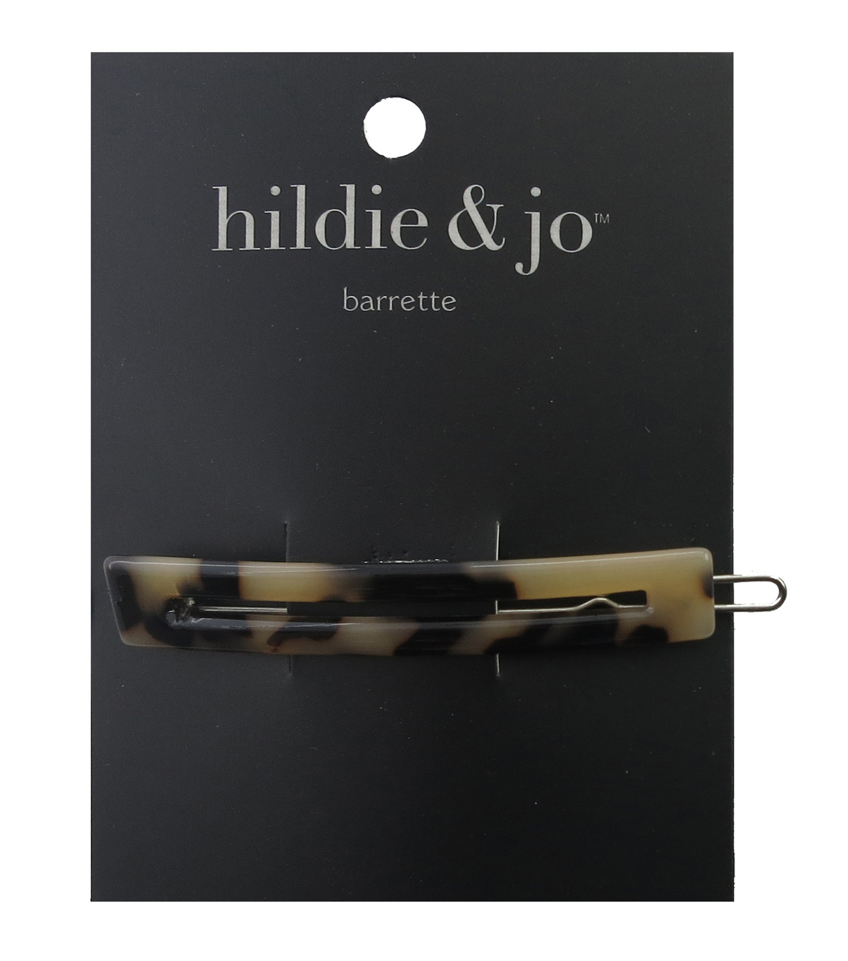 hildie & jo Open Rectangle Barrette-Tortoise Shell
