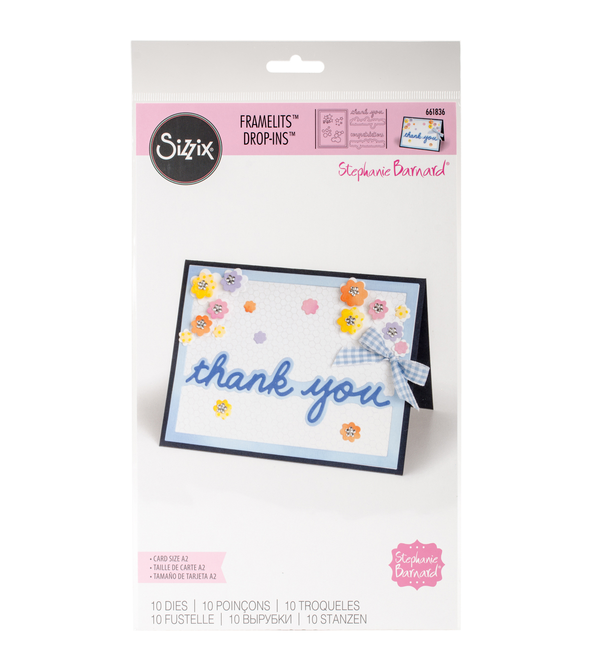 Sizzix Framelits Dies-Horizontal Front Drop-Ins Card
