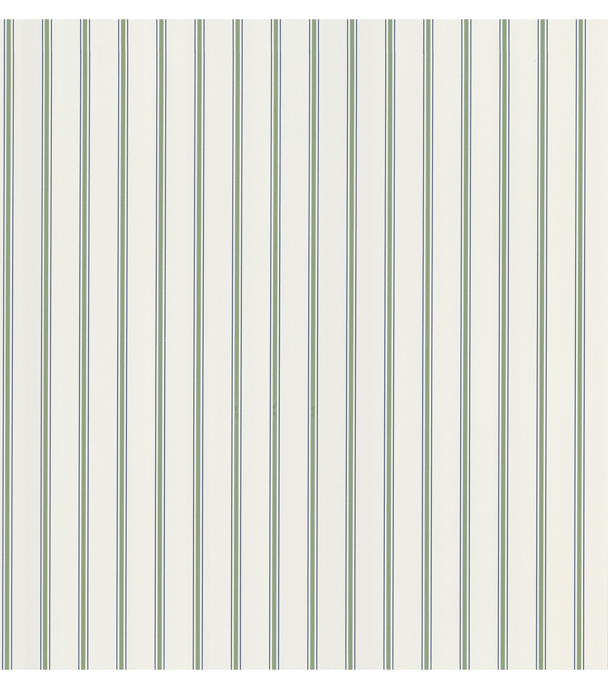 Harry  Green Pinstripe Wallpaper Sample