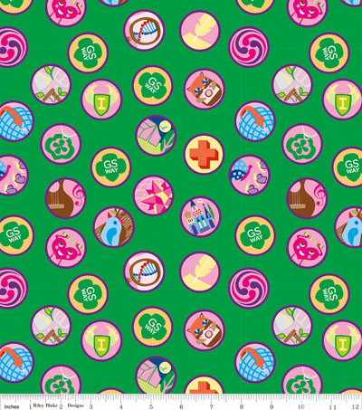 Girl Scouts Cotton Fabric-Junior Badges