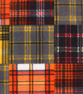 Anti-Pill Fleece Fabric -Construction Madras Plaid