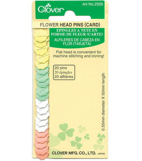 Clover Flower Head Pins-20 Count Carded