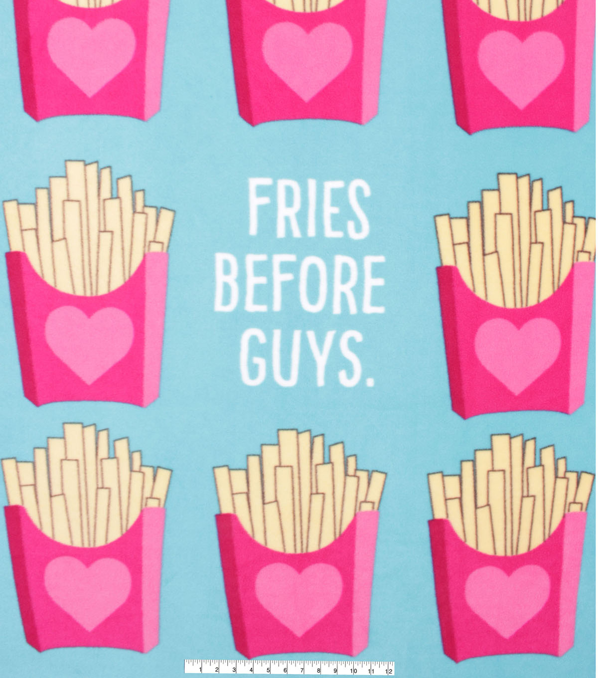 No Sew Fleece Throw 48\u0022-Fries Before Guys