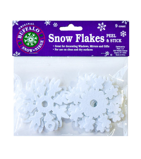 Buffalo Snow Adhesive Artificial Snow-Snowflakes