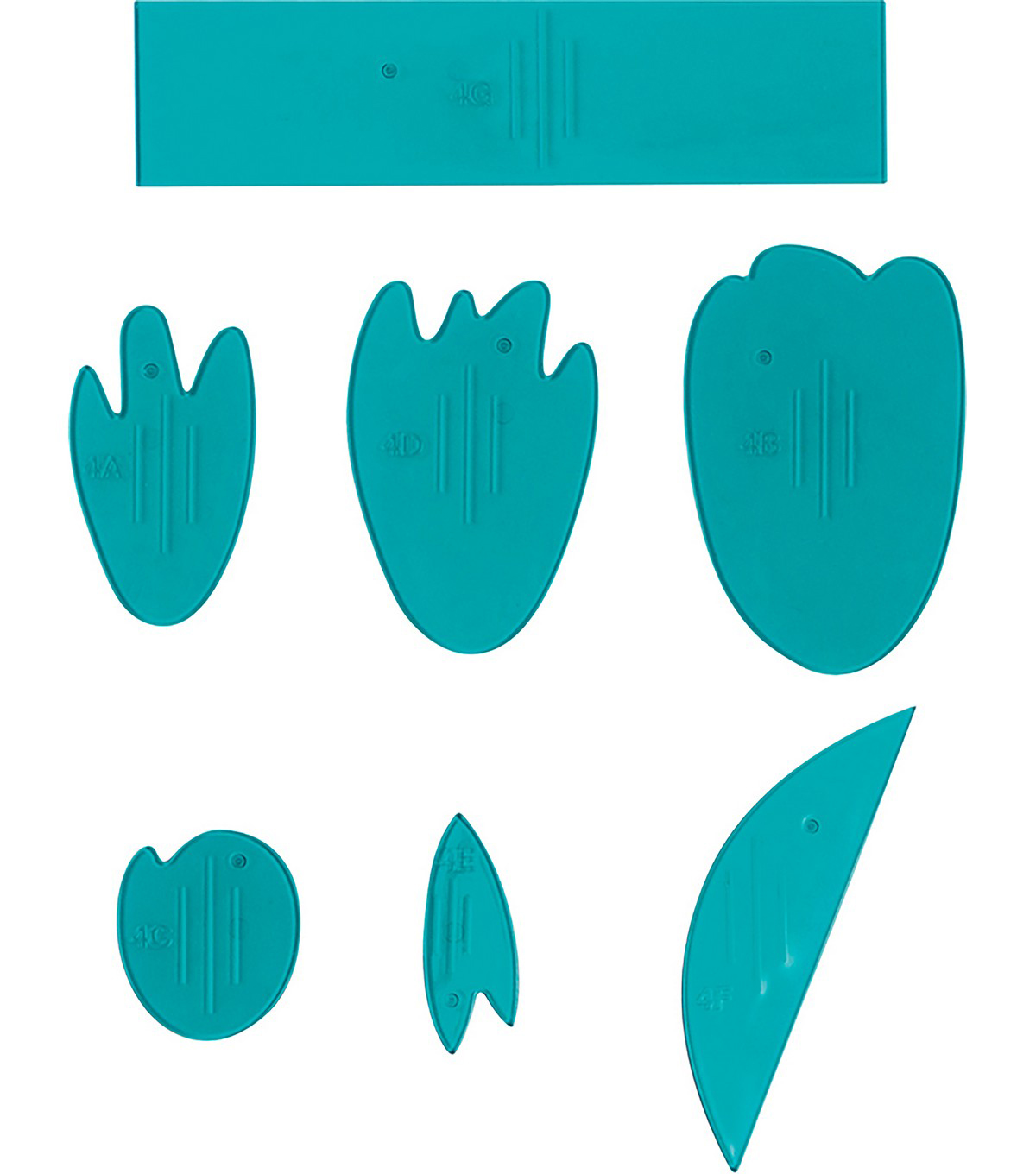 Fiskars Lia Griffith 7 pk Peony Flower Templates